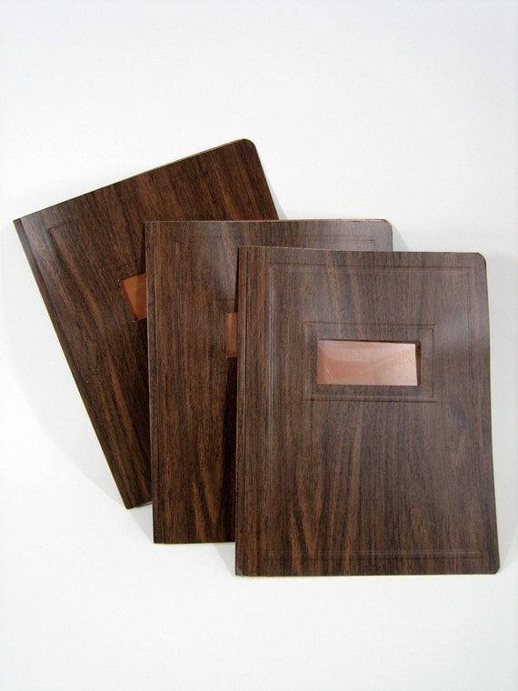 Faux Bois DUO-TANG Presentation Folder with Fasteners