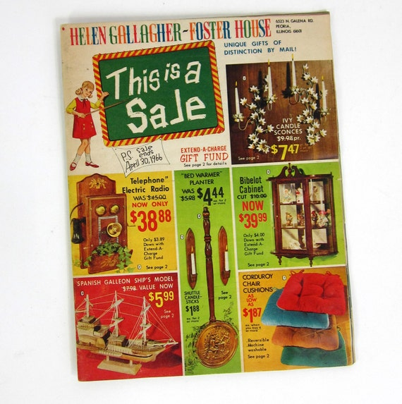 Helen Gallagher-Foster House Spring Decorating Catalog 1966