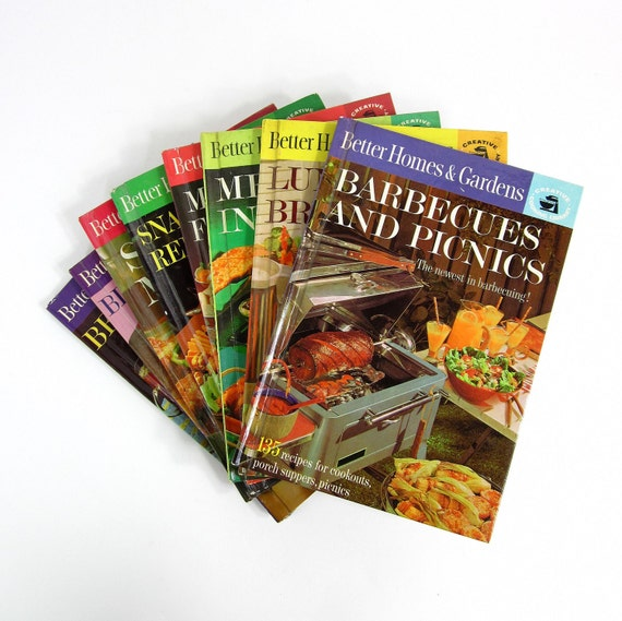 Better Homes and Gardens Creative Cooking Library Series 60s / Retro Fabulous Recipes and Photos / Complete Set