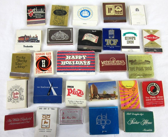 Instant Collection Match Book Covers 70s / Lot of 49
