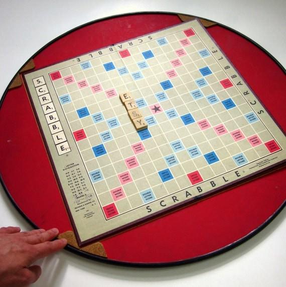 Vintage Scrabble Game Turn