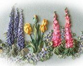 Spring Garden silk Ribbon Pattern and Print Kit
