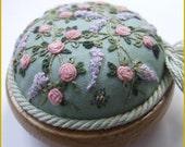 Trellis of Roses and Wisteria pincushion