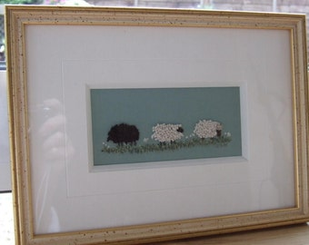 Counting Sheep Stumpwork Embroidery kit