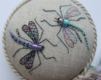 PP14 Dragonfly Duo Pincushion Pattern and print Kit