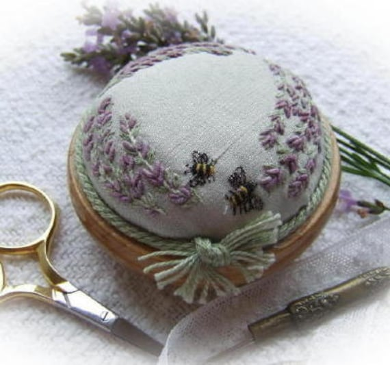 PDF PP4 Lavender and Bees Pincushion Pattern
