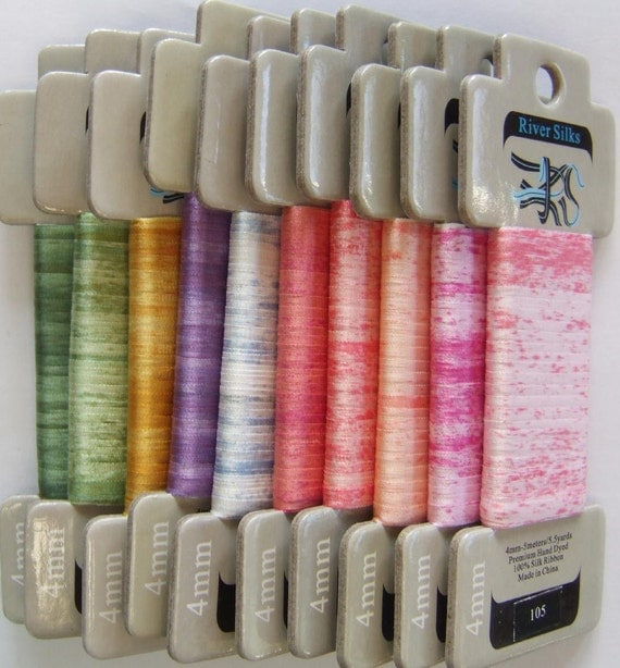 Very Variegated Collection - 4mm Silk Ribbon