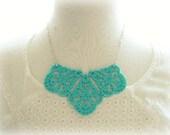 Turquoise Large Filigree Statement Necklace