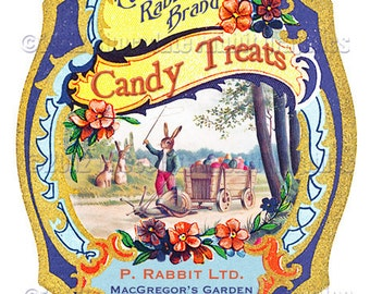 Vintage Victorian Easter Candy Collage Sheet Digital Labels Tags Images Scrapbook Download