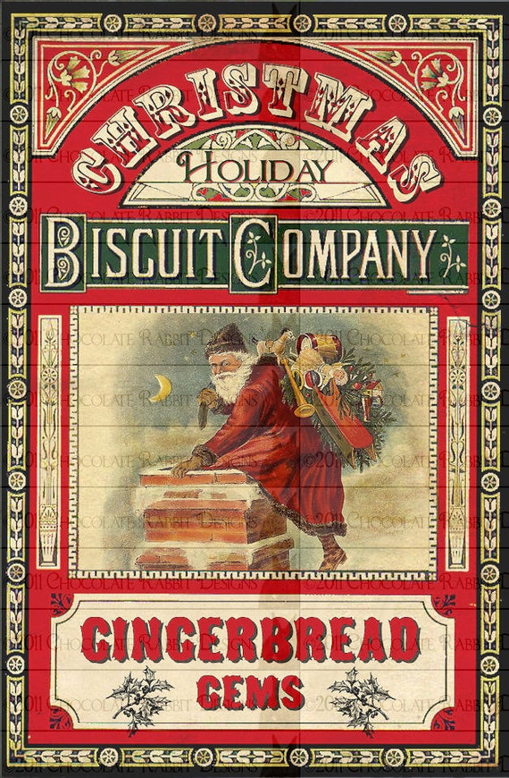 Christmas Gingerbread Cookie Labels Digital Download Printable