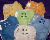 Custom Cloth Diaper Conversion 6 Diapers for Vlkswgn6