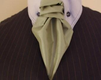 silk tie ascot cravat scrunch tie handmade in leeds west yorkshire England