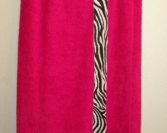 Red Zebra Print Spa Wrap