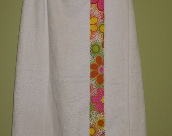 Spa Wrap with pink floral fabric