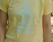 Is This Thing on Notik1 design ladies organic  t-shirt yellow