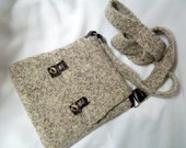 Felted Wool Cross-Body Bag - Oatmeal - Look Ma, No Hands