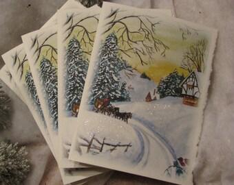 Winter Sky-- set of 5