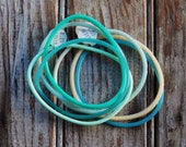 twenty 80s Pastel Rainbow Jelly Bracelets
