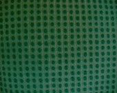 Morgan Jones Evergreen Pops and Silver Lurex Vintage Chenille Fabric 12 x 24 Inches