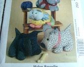 Helen Beverlin Design for McCall's Crafts Pattern - Stuffed Dog, Cat - 2007