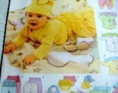 McCall's Pattern Baby Clothing Romper, Kimona, Diaper Cover, Bib, Ruffled Pant, Hat, Boot