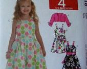 McCall's Girls Dress and Bolero Pattern Size 3-4-5