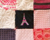 Custom Order - Touch of Paree Vintage Chenille and Minky Quilted Lovey
