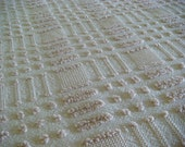 Lovely Morgan Jones Latte Woven Cotton Vintage Chenille Fabric 24 x 36 Inches