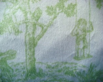 36 x 27 Inches Pastel Green Toile Minky