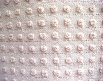 Ivory Morgan Jones Pops Vintage Cotton Chenille Bedspread Fabric 18 x 24 Inches