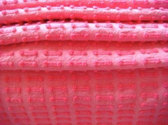 Hot Pink Morgan Jones Buttonhole Vintage Chenille Bedspread Fabric