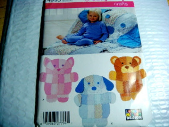 Rag Quilt Animal Patterns : Simplicity Crafts Pattern Rag Quilt Throw and Wall Hanging