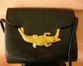 Vintage Alligator Purse in Black