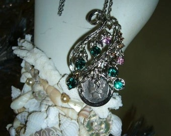 Vintage Necklace with a 1942 DIME To Make a Call Back in the Day Vintage Jewelry