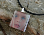 "1.25 "" Glass Photo Pendant with Necklace"