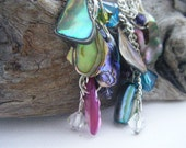 Abalone Cluster Earrings