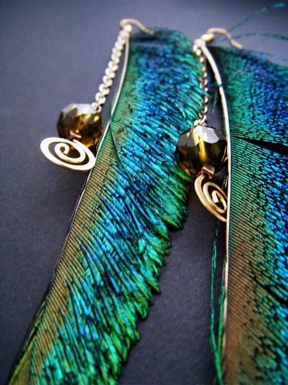 Peacock Spirit Earrings