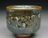 Yunomi Tea Cup glazed with Carbon Trap Shino and Slip for a one of a kind result