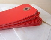 Blank Manila Gift Tags - Medium - set of 25 in Lovely Red