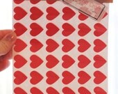 108 Mini Red Heart Stickers
