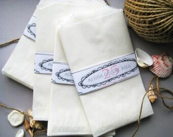 Glassine Bags - Medium - Set of 100 in Frost White