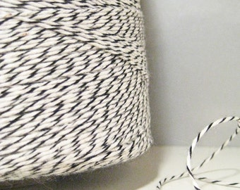 Bakers Twine - Classic - Black and White - 100 Yards