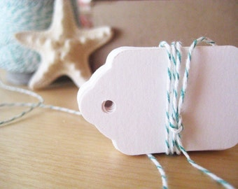 Mini Hang Tags - set of 25 in Bright White