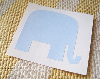 36 Light Blue Mr. Elephant Stickers - Peel and Stick Tags, labels, name tags