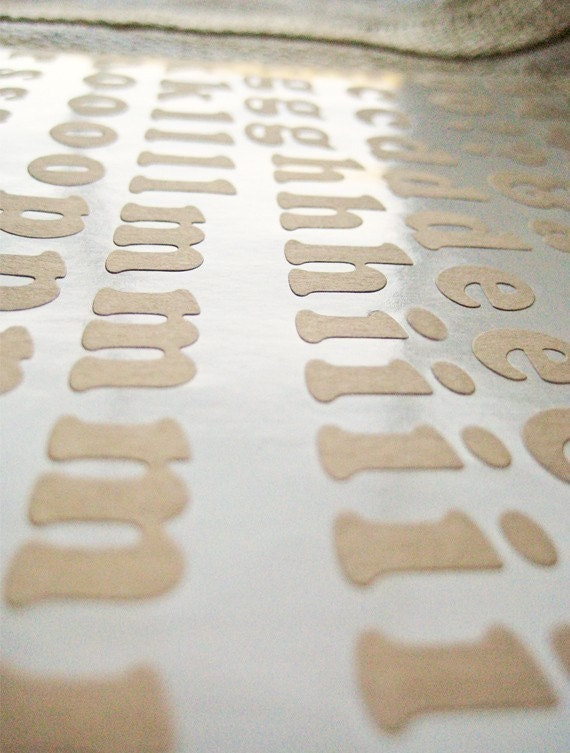 kraft paper peel and stick alphabet letters by californiacraft