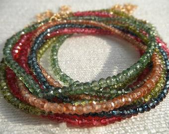 Quartz necklace - tan necklace - brown necklace - quartz bracelet - brown bracelet - H A L E Y 081