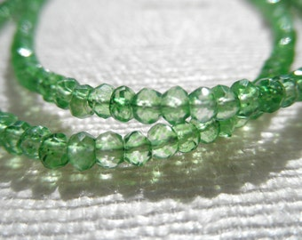 Peridot green necklace - peridot green quartz - green bracelet or necklace - silver necklace- H A L E Y 127