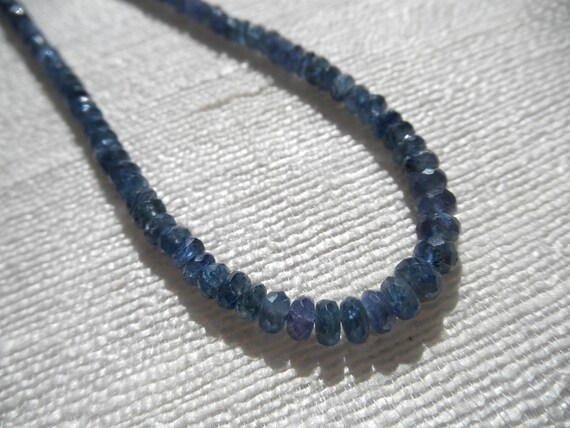Graduated Sapphire necklace -  blue bracelet - silver necklace - H A L E Y