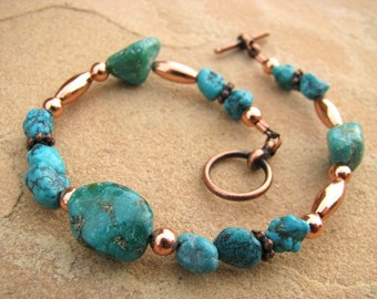 Desert Oasis Turquoise and Copper Bracelet