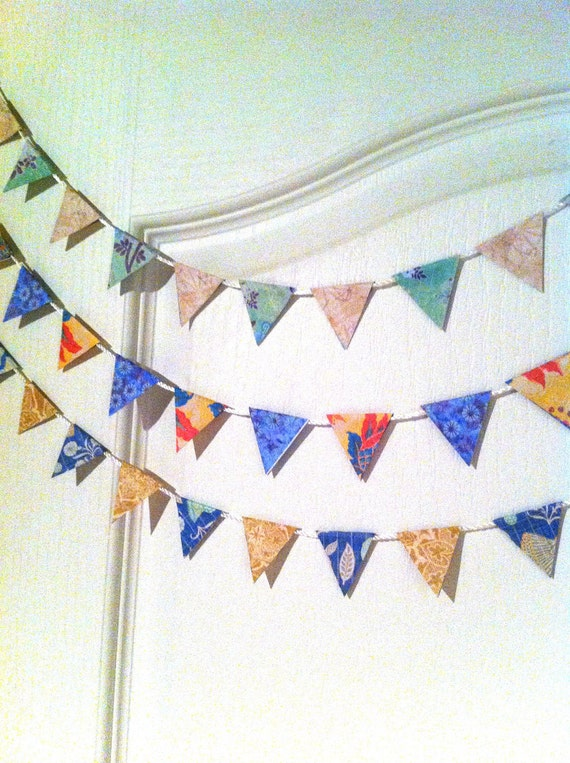 Five Mini Paper Buntings Kits
